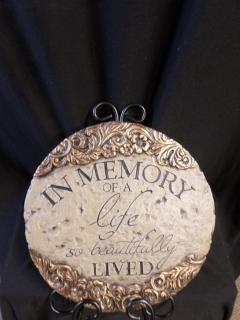 AF  In Memory of a Life Plaque