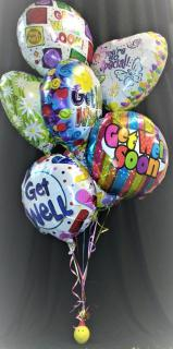 AF Balloon Bunch With Smiley Weight