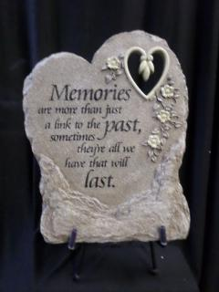 AF Open Heart Memories Plaque