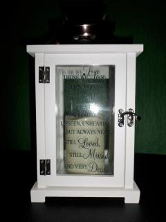 Keepsake Lantern with Led Candle-White,Those We Love