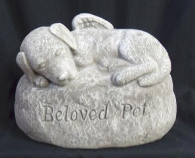 "Weathered Cement Stone ""Beloved Pet\"""
