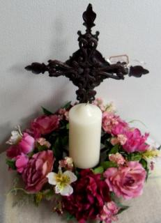 Memorial Cross Arrangement