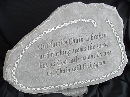 Weathered Cement Stone Broken Family Chain