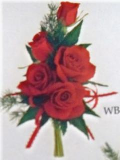 Red Sweetheart Rose Corsage