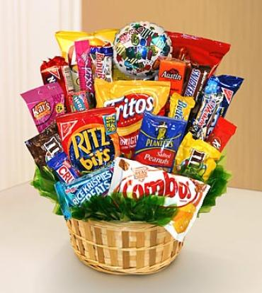 Sweets in Bloom? Feel Better Snack Attack Basket