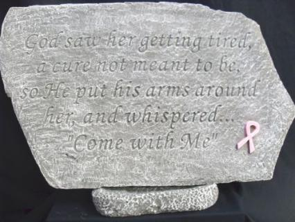 Weathered Cement Breast Cancer Stone