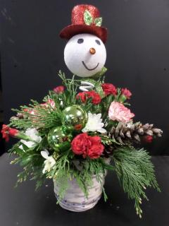 Larger Snowman Pick Bouquet
