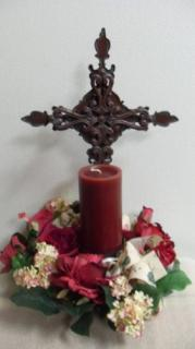 Memorial Cross with Silks
