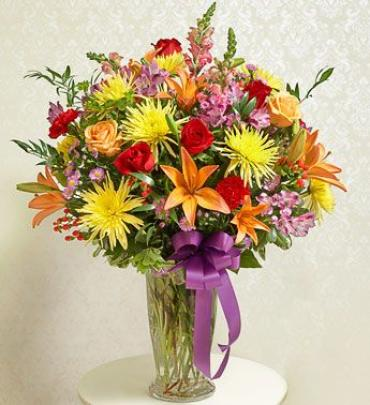 AF Bright Vase Arrangement
