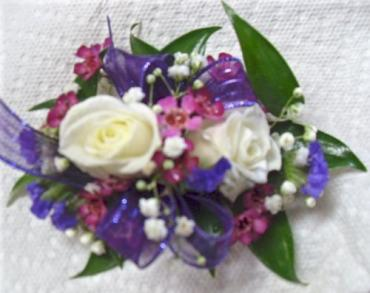 Arnold Florist Purple Mixed Corsage