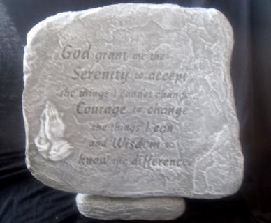 Weathered Serenity Prayer Stone