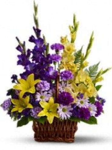 AF Purple and Yellow Basket