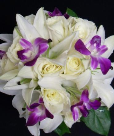 AF Orchid, Rose and Lily Bouquet