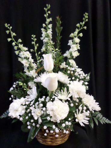AF White Remembrance Basket