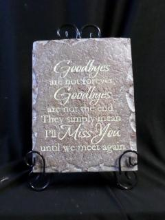 AF Smaller Message Plaque, Goodbyes