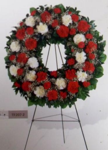 AF Red and White Wreath