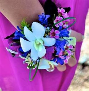 AF Orchid Mixed Wrist Corsage
