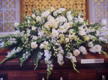 All White Casket Spray (Large)