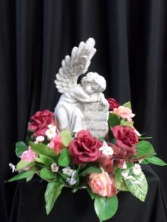 AF Keepsake Comfort Angel With Red Roses