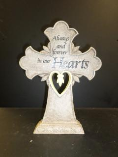 Luminating Open Heart Cross