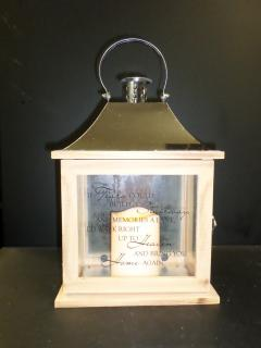 Wooden Sentiment Lantern, If Tears...