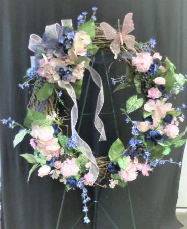 AF Pink and Blue Keepsake Wreath