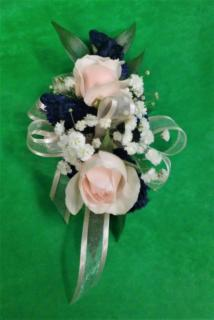 AF Pink and Navy Blue Corsage