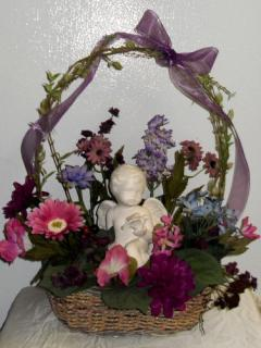 Cherub Arrangement with Dove