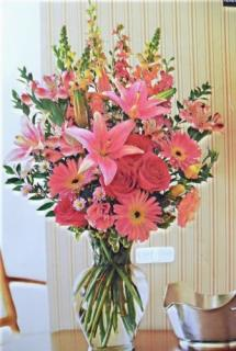 Pink Delight Vase Arrangement