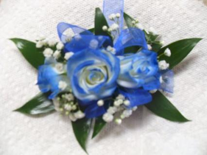 Arnold Florist Blue Royal Corsage