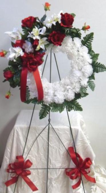White Carnation Wreath
