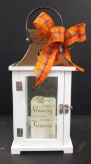 Fall Keepsake Lantern with Led Candle