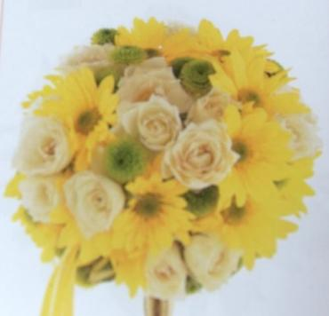 Arnold Florist Yellow and White Nosegay