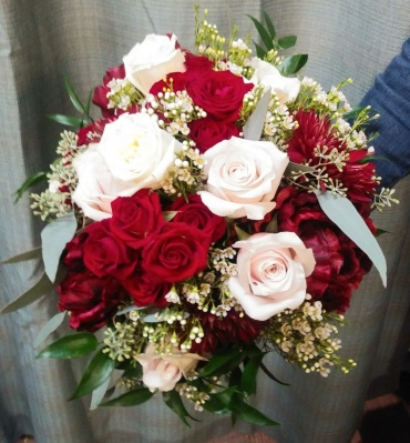 AF Blush And Burgundy Elegance Bouquet