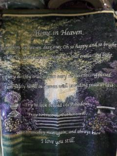 Sympathy Throw- Home in Heaven