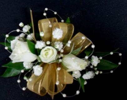 AF Pearl accent wrist corsage