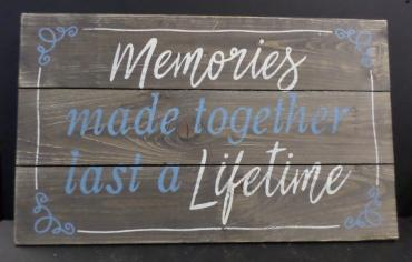 AF Memories Made Together Wooden Sign