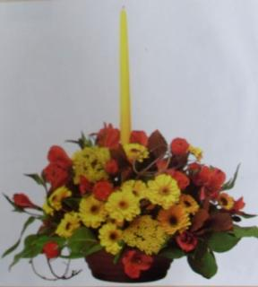 Centerpiece with Single Candle