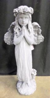 AF Weathered Cement Standing Angel