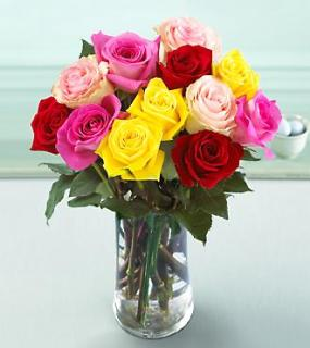 Mixed Color Rose Bouquet