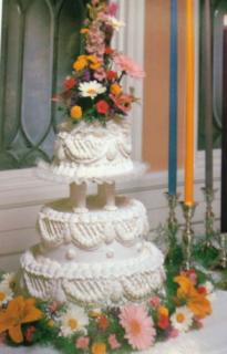 Colored Mixed Garden Cake Flowers
