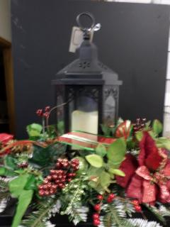 Traditional Christmas Lantern Centerpiece