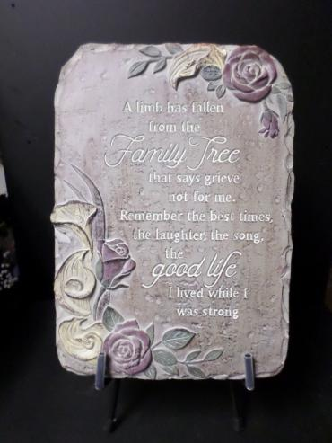 AF Calla Family Tree Plaque