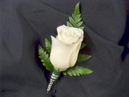 Arnold Florist Stem Wrapped Rose Boutonniere