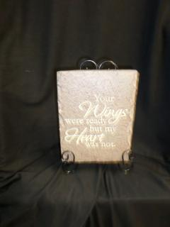 AF Smaller Message Plaque, Wings