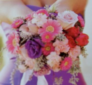 Arnold Florist Pink and Purple Bouquet