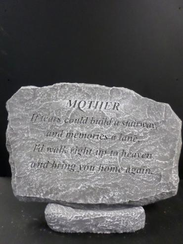 "Weathered Cement Stone ""Mother\"""