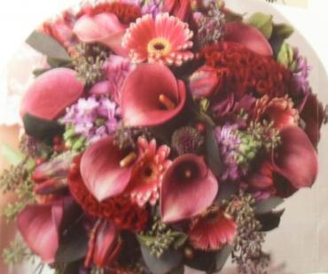 Crimson Calla Mixed Bouquet