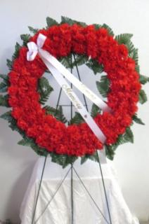AF Red Carnation Wreath