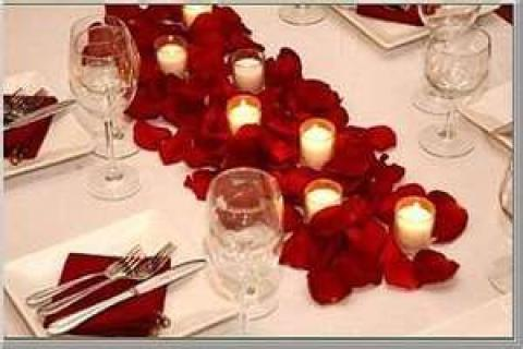 Rose Petal and Candles